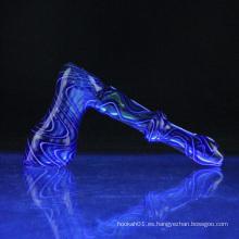Venta al por mayor Fumed Bubbler vidrio para fumar con 2 colores (ES-HP-078)