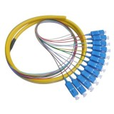 Round Type 12 Core Sc Fiber Optic Pigtail