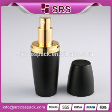 Best Design Black Plastic Bottle And Acrylic Dispenser 15ml 35ml 80ml Cosmetic Color Round Logo Printed Spray Bottle