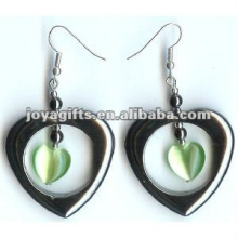 Magnetic Hematite Cat's Eye Beads Earrings