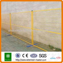 Оцинкованный подвижной временный забор (заводской)