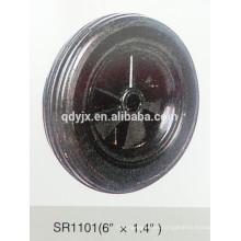 """rueda de goma sólida 6 """"X1.4"""""""