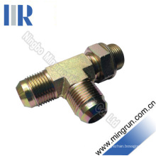 Jic Male / Bsp Male O-Ring Run Tee Adapter Hydraulic Tube Fitting (AJJG -OG)