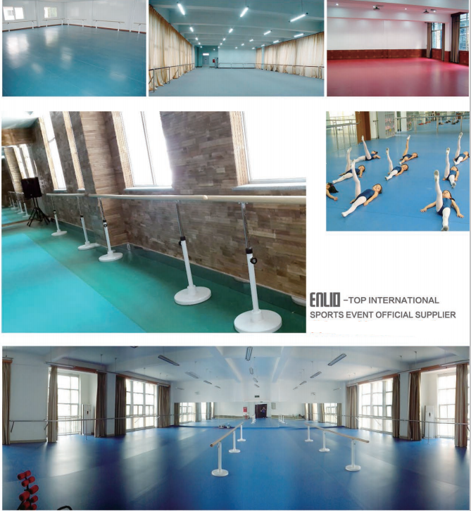 portable and permanent resilient flooring for dance studio