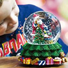 Boîte à musique boule de cristal en verre pour la décoration de Noël