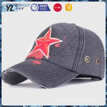 Vente chaude OEM design en gros chapeaux de baseball chapeaux expédition rapide
