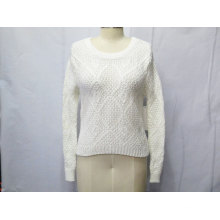 Elegant Pure Color Knitted Sweater for Women