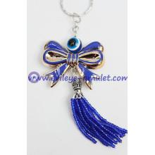 blue evil eye butterfly keychain Cheap wholesale