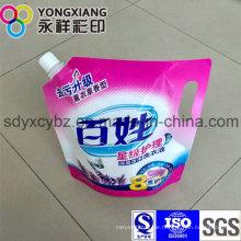 Kundenspezifische Waschmittel Stand up Auslauf Verpackungsbeutel