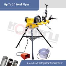 Máquina de roscado de tubos eléctricos SQ50D para rosca BSPT o NPT