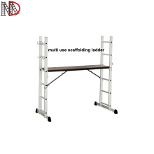 2020 new mini scaffolding ladders aluminium 2*6 steps Flexible with EN131