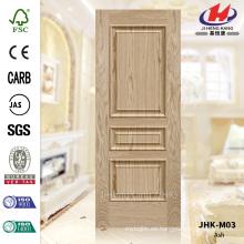 JHK-M03 Especialmente 2016 Convex laminado de cenizas moldeado Veneer puerta piel Fabricación de China