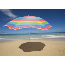 Large Promotion Rainbow beach umbrella