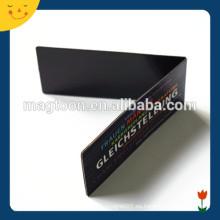 Señal negra del imán del refrigerador de la forma del rectángulo del color