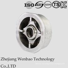 Válvula de retención de la oblea del acero inoxidable del estruendo con CF8 para la industria