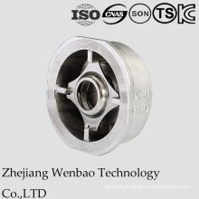 Válvula de verificação de aço inoxidável da bolacha do RUÍDO com o CF8 para a indústria
