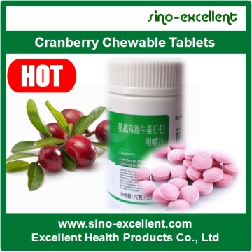 Cranberry kauwtabletten tabletten