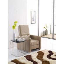 Chaise gris en cuir