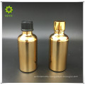 best selling cosmetic container gold glass bottle