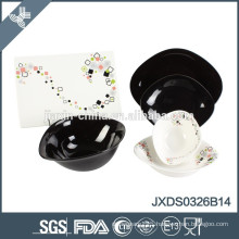 26 pcs porcelain Dinner set, samll set porcelain, black colored set porcelainware