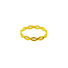 Cincin Braid Sederhana 18 K Kuning Emas Fashion