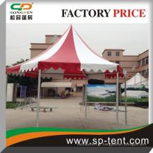 Prix d'usine blanc et rouge luxe imperméable PVC hexagonale tente d'hiver 6x12m