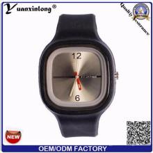 Yxl-999 Мода Женева мужской Смотреть Силиконовые кварцевые часы Наручные часы Женские платья Марка часы Женщины Relogio