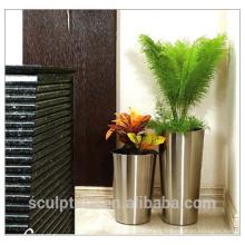 2016 New Garden Modern Flowerpot 304 en acier inoxydable Modern Flowerpot Home Decoration