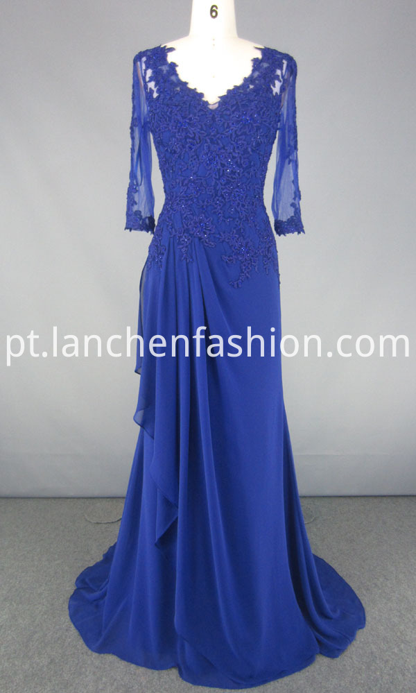 V Neck Evening Dress
