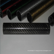 3k twill Pot d'échappement en fibre de carbone