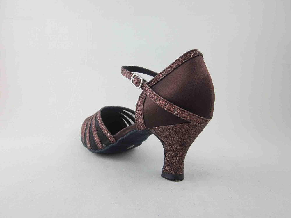 Brown Satin Dance Shoes For Girls