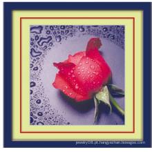 2015 moda 5d diy diamante pintura de parede gota de água rosa flor totalmente diamante pintura personalizado diamante pintura