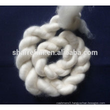 100% dehaired Inner Mongolia cashmere tops white
