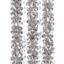 New design  and hot sale crystal bling applique belt for wedding sash RH1038