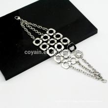 Bohemia Style 3 Chaînes Combinaison Mesh en acier inoxydable Bracelet en chaîne en argent pour les filles