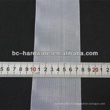 Bande de rideau transparente de 76 mm, bande de rideau en nylon