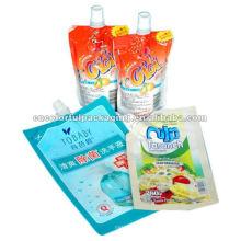Forma especial personalizado salsa bico bolsa, atacado salsa bico bolsa