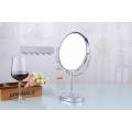 "8"" Double Sided Stand up Brass Table Cosmetic Mirror"