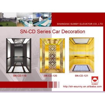 Fahrstuhl mit schwarzem, goldenem Spiegel (SN-CD-119)
