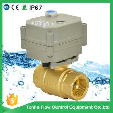 Válvula de bola motorizada NSF61 IP67 Cwx-15q Válvula accionada eléctricamente