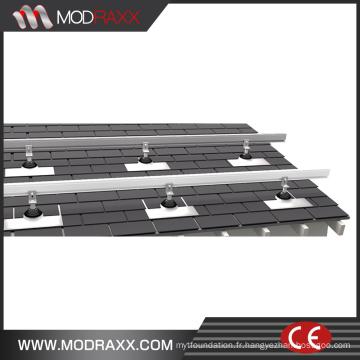 Montage des supports (NM0020) sur le toit commercial