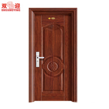 Indoor security door, steel door with home security door locks cylinder lock, metal entrance door