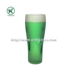 Garrafa de vidro verde por SGS (6.5 * 5 * 18 280ml)