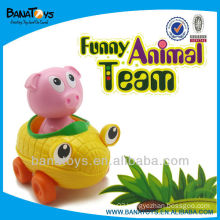 plastic pig toy plastic cartoon toy car