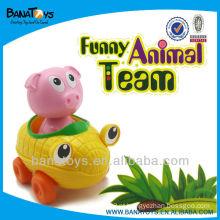 Plástico brinquedo de porco brinquedo de plástico carro de brinquedo