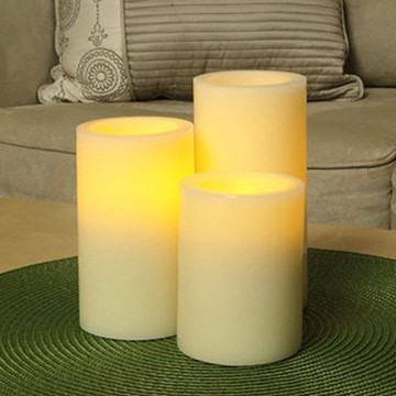Ivory LED candles set