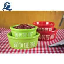 Wholesale Pet Cat Food Water Feeder Ceramic Dog Feeding Bowl