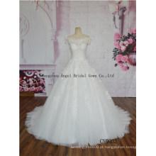 Lehenga nupcial da elegância para o vestido de casamento sem mangas da promoço da venda