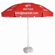New Delivery for Rainbow Multi Color Beach Umbrella Large Size Sun Parasol Promotional Beach Umbrella supply to Grenada Suppliers