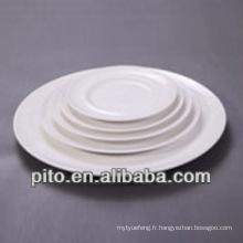 P & T en porcelaine facoty plaques de céramique ronde, assiette de porcelaine